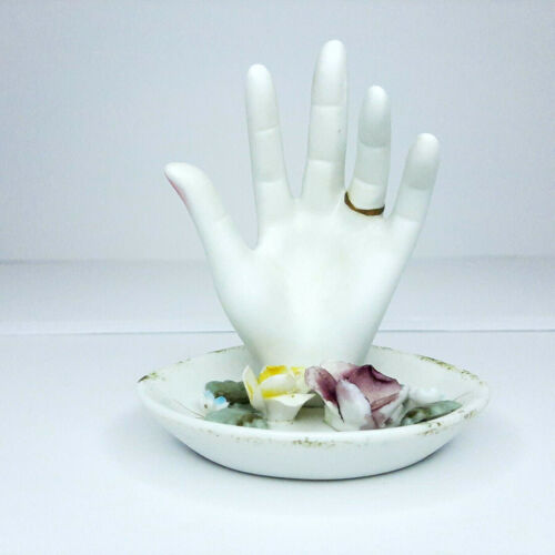 Vintage Porcelain Bisque Hand Ring Dish Made in Japan 1950