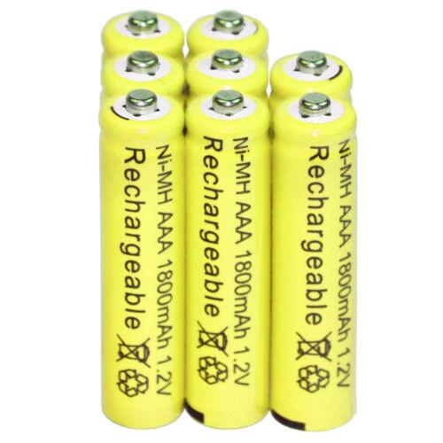 8 AAA Rechargeable Batteries NiMH 1800mAh 1.2v Garden Solar