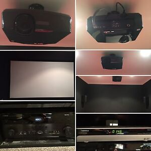 Theater system with speakers, amp, screen, topfield Pakenham Cardinia Area Preview