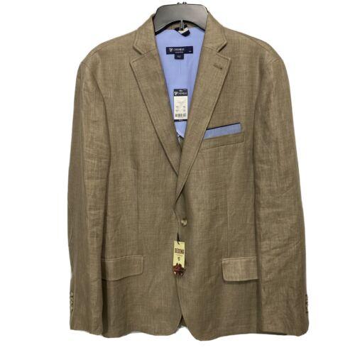 $250 CREMIEUX Sedona Linen Blazer Sport Coat Jacket Large Tan Elbow Patches Clothing, Shoes & Accessories