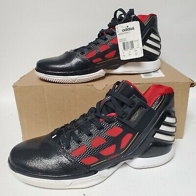 Adidas Adizero Rose 2 New with Box Size 10.5 BRED Colorway Black Red Art G22887