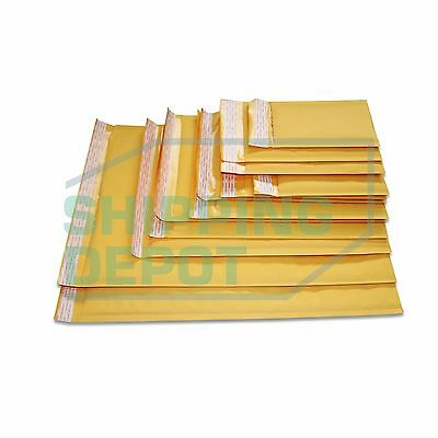 1-3000 Kraft Bubble Mailers #0000 #000 #00 #0 #DVD #CD #1 #2 #3 #4 #5 #6 #7 ()