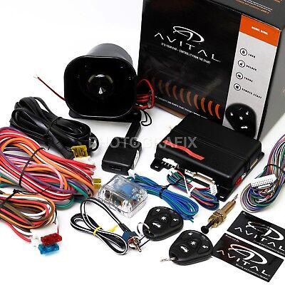 New Avital 5105L 1 Way Car Security Alarm Remote Start System D2d Replaces 5103L