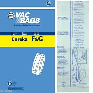 Eureka Sanitaire F G Upright Vacuum Bags Koblenz 9pk