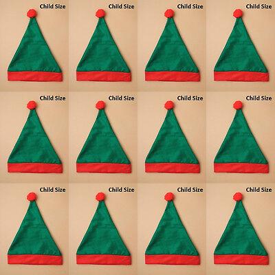 Felt Elf Hats Wholesale Christmas Santa Party Office Bulk Fancy Dress Xmas CHILD - Christmas Hats Wholesale