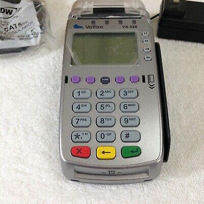 Verifone M252 Credit Card Machine -vx520 Wbox Adapter Working