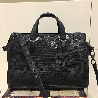 a901611b8ede ALEXANDER WANG leather shoulder bag. STUDS light grey