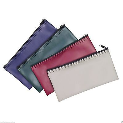 6 Zippered Bank Deposit Bag Carry Pouch Safe Money Organizer  Pick Your Color