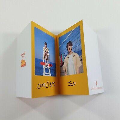 BTS Butter Official Original Folded Message Card 1p JIN K-POP Photo Card Goods