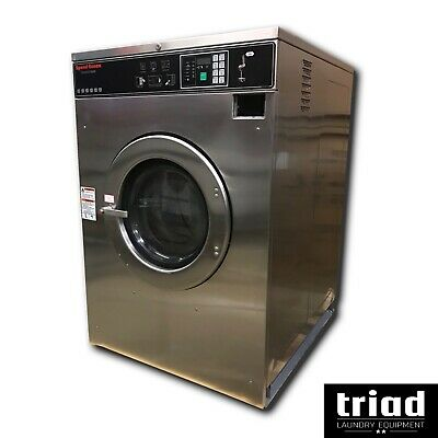 08 Speed Queen 60lb Coin Commercial Washer 3ph Laundromat Huebsch Unimac Ipso