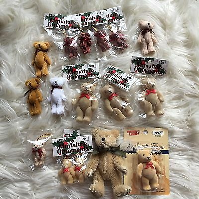 Lot of dollhouse miniatures teddy bears ornaments Franks Hobby Lobby