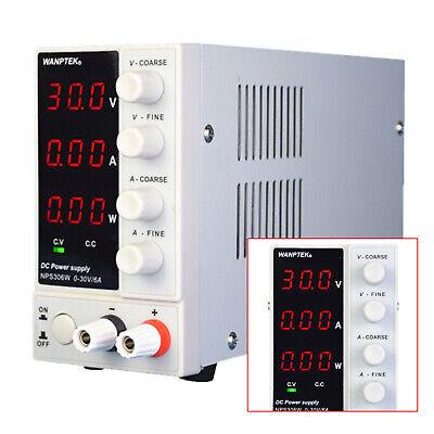 Adjustable Power Supply 30v 10a 110v Precision Variable Dc Digital Lab Nps306w