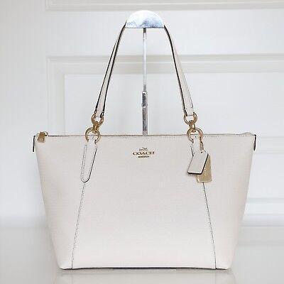 New Coach F57526 Crossgrain Ava Zip Tote Handbag In Chalk