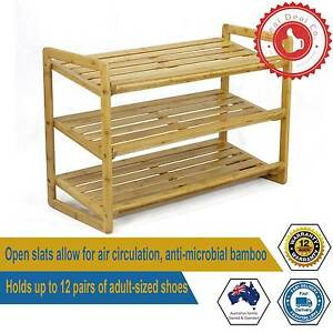 3 Tier Bamboo Shoe Rack Suitable for Any Room in the House 12 Pai Paddington Eastern Suburbs Preview