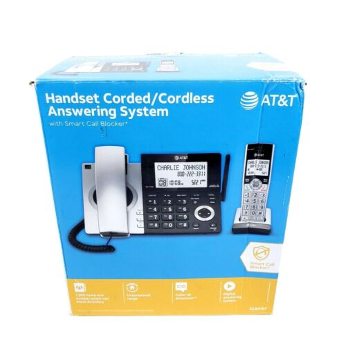 AT&T CL84107 DECT 6.0 Expandable Corded/Cordless Phone
