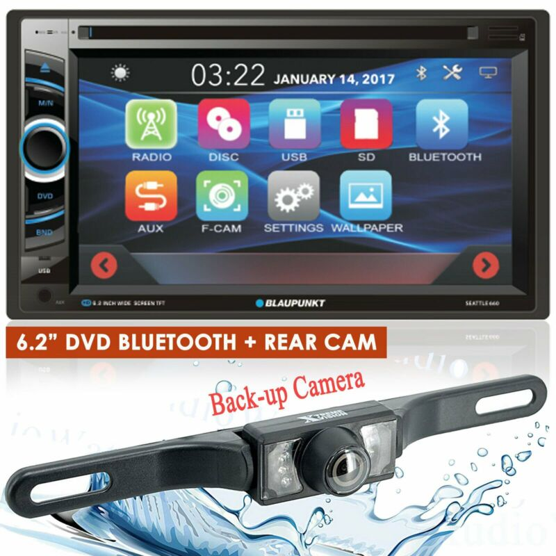"BLAUPUNKT CAR AUDIO 2 DIN 6.2"" TOUCHSCREEN DVD BLUETOOTH STEREO + REAR CAMERA"
