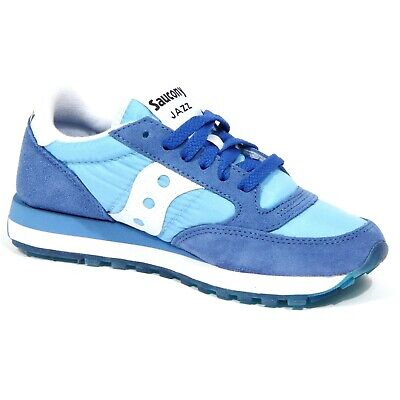 Dettagli su 2900J sneaker donna light blue SAUCONY JAZZ scarpe shoe woman