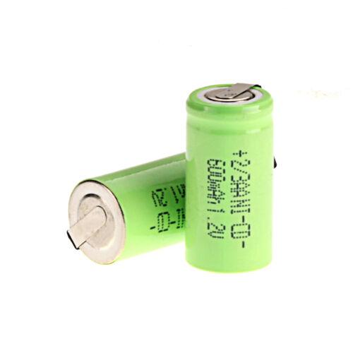 Grün 2 ~ 36pcs Ni-Cd 1.2V 2 / 3AA 600mAh Akku NiCd Wiederaufladbare Batterien
