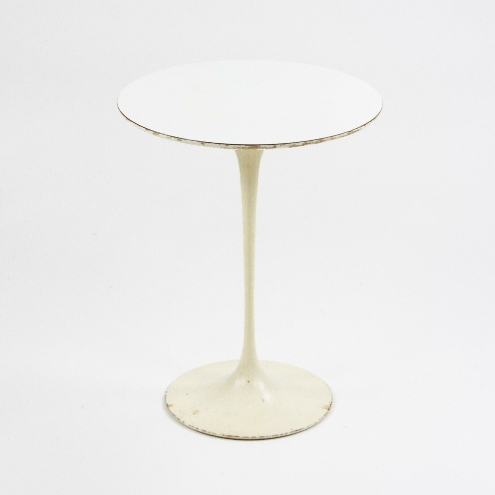 Saarinen 16 Inch Round Side Table.Details About 1960 S Vintage Eero Saarinen For Knoll 16 Inch Tulip Side Table White Laminate