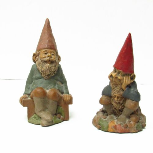 Vintage Tom Clark Gnome Figurines Set of 2: O