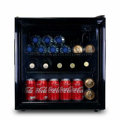 SIA AMZDC2BL 52L Table Top Mini Drinks Beer & Wine Fridge Cooler With Glass Door