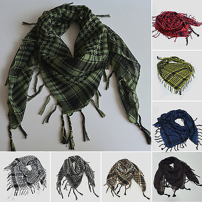 Women Men Military Shemagh Arab Tactical Plaid Checked KeffIyeh Neck Scarf - Adult Arab