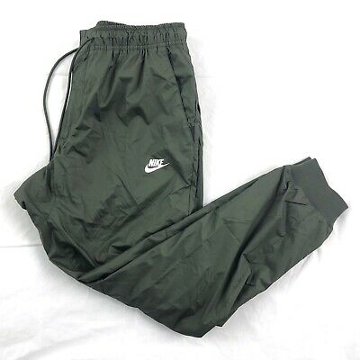 Nike Windrunner Jogger Pants Sequoia Olive Green White AT5272-355 Men's XL-XXL