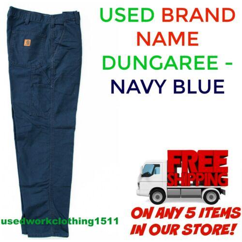 Used Work Pants Cintas Redkap Unifirst G&k Navy Blue Dungarees Cargo