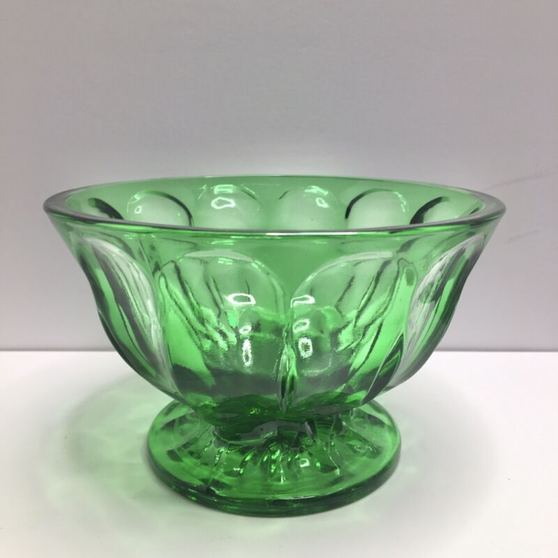 """Anchor Hocking - 4"""" Emerald Green - Footed Pedestal Candy Dish Compote"""