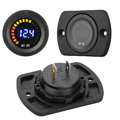 12v Mini Digital Voltage Meter Display Voltmeter Led Panel For Car Motorcycle