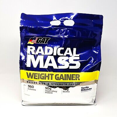 GAT RADICAL MASS Weight Gainer 10 LBS Vanilla Milk compare d