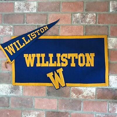 Vintage Williston, North Dakota Felt Banner Pennant Letterman Lot