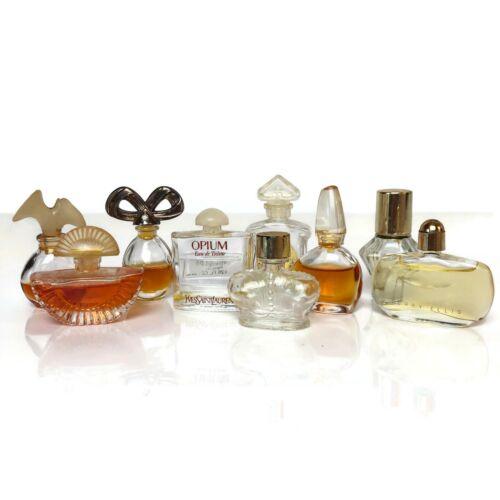 Lot 9 Mini Vintage Modern Perfume Parfum Bottles Glasses Vanity Decor Miniature