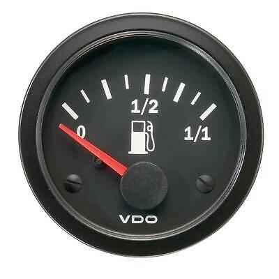 VDO Vision Fuel Level Electrical Gauge - For Float Arm Type Sender - 52mm
