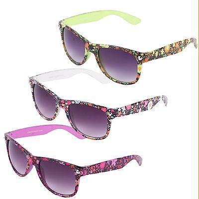 e Stil Sonnenbrille mit Blumenmuster (50er Stil Brille)