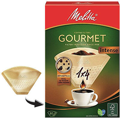 MELITTA 1x4 Gourmet Intense Coffee Maker Machine Filter Paper Cone Filters x 80