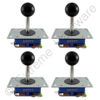 4X Zippyy Largo Eje Bola Superior Arcade Joysticks 2/4/8 Modos (Negro) Jamma