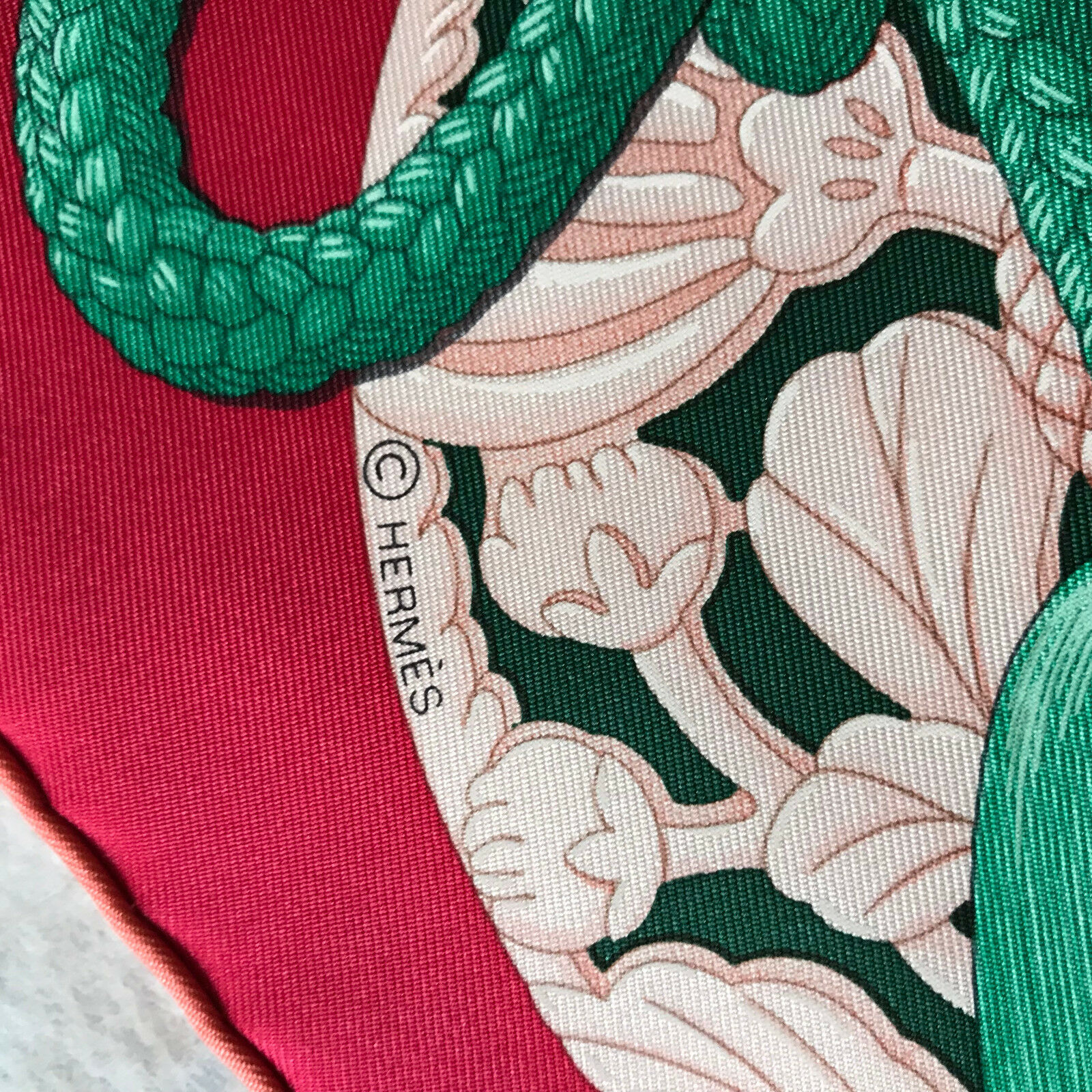 New With Tag Authentic Hermes Silk Scarf Carre 90 Parures de Samourais