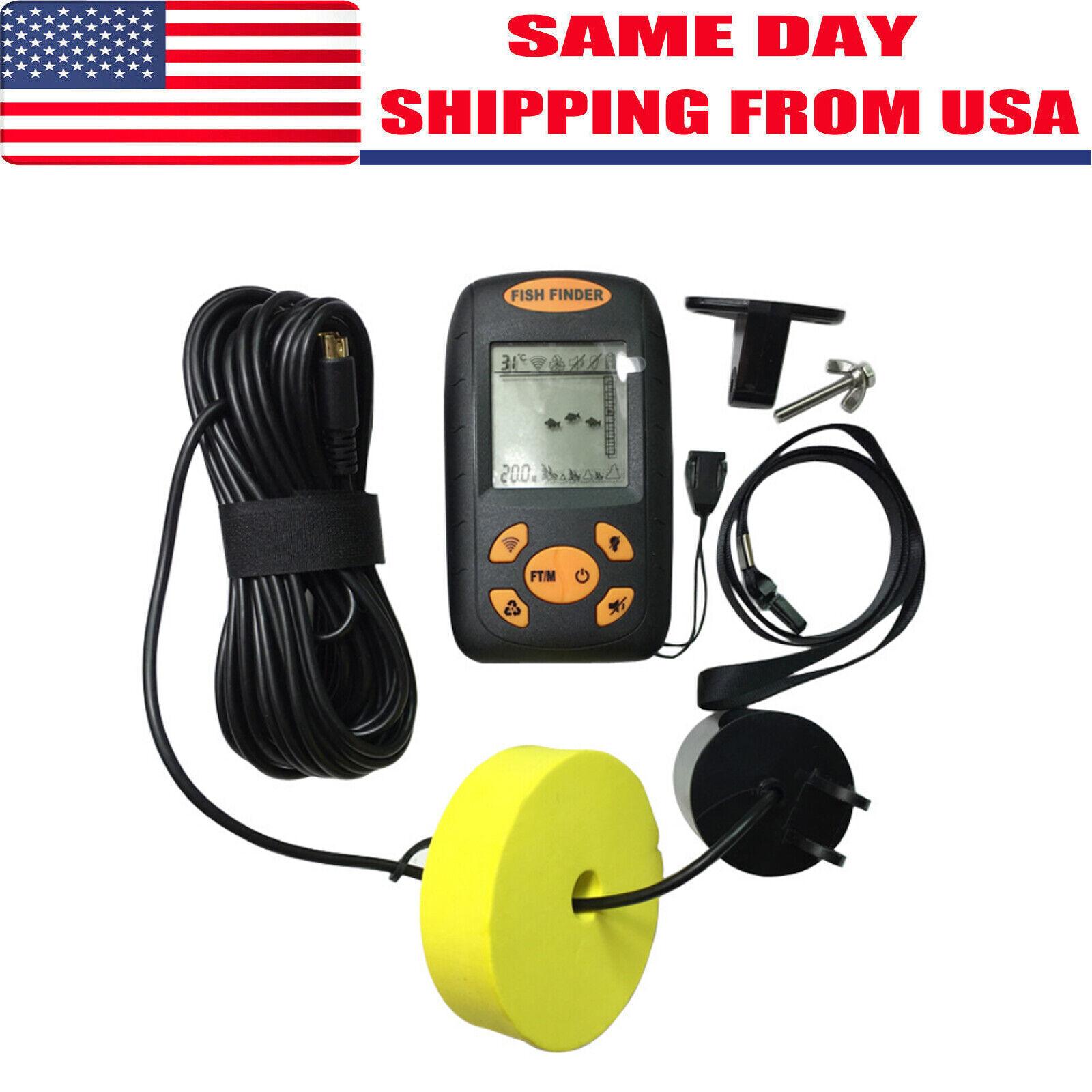 328fts Portable Fish Finder Depth Echo Sonar Alarm Sensor Tr