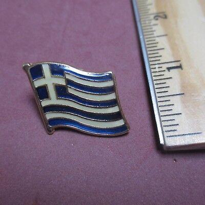 Greek Greece Flag National Pride Hat Pin Tie Tac Pinback Lapel Enamel
