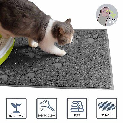 Dog Cat Food Mat With Non Skid Design-Best For Containing Spills Pet Feeding