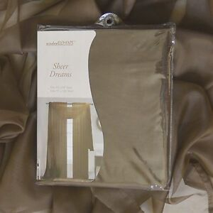 Sheer Window Treatment Curtain/Drapes : Panel OR Scarf