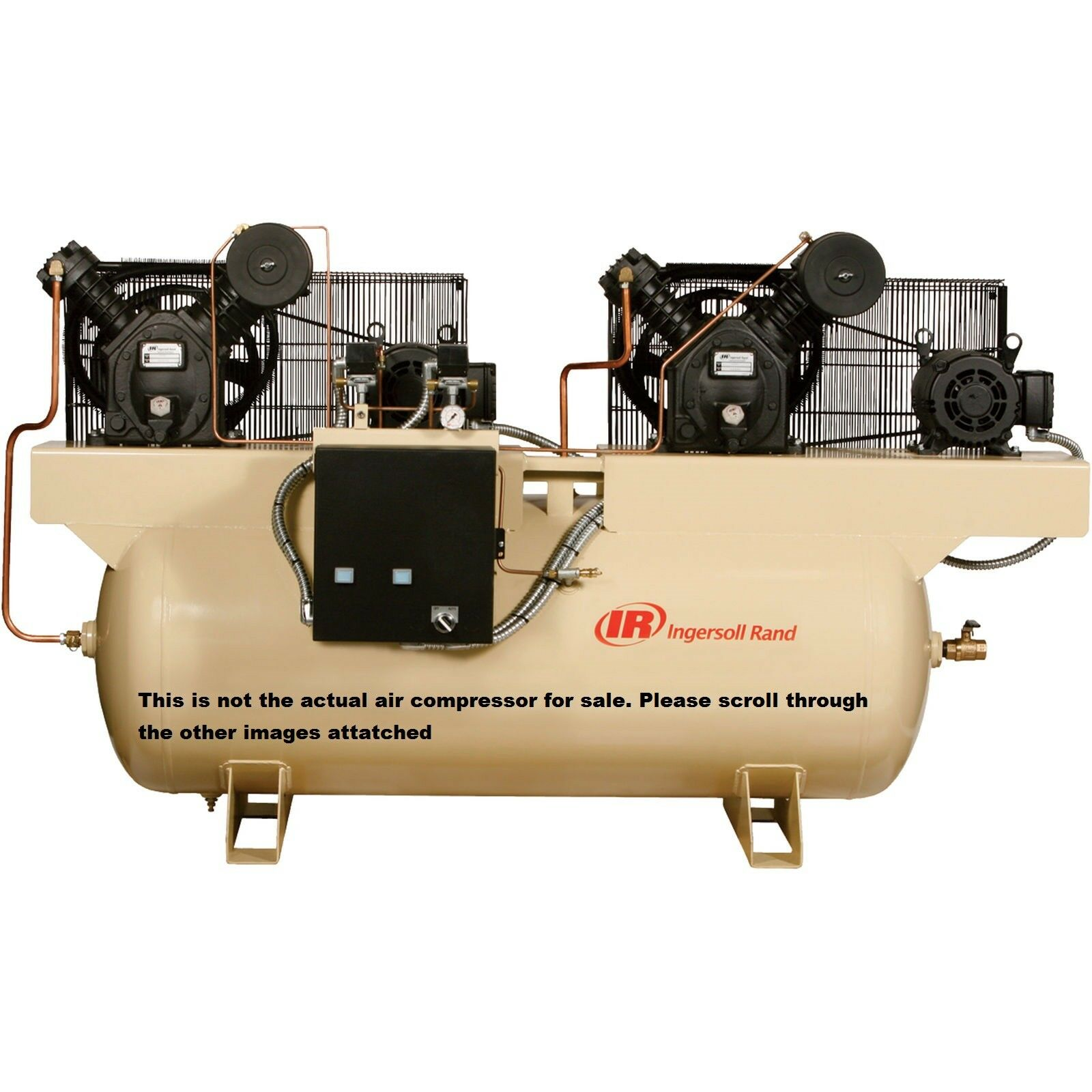 Ingersoll Rand Air Compressor- Duplex, 7.5 HP, 230 Volt 3 Ph