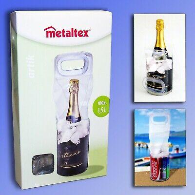 Metaltex® Flaschenkühler bis 1,5 Liter Eiskühler Kühltasche Kühlbox Sektkühler