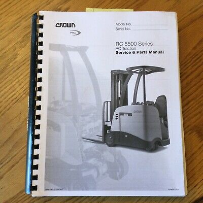 Crown Rc 5500 Service Shop Repair Manual Parts Book Electric Fork Lift Truck
