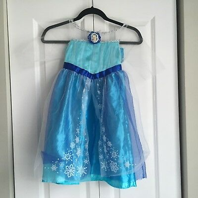 Girl's Frozen's  Elsa Dress Up Costume Dress - Size Small