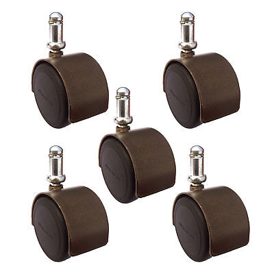 2 Office Chair Casters - Windsor Antique Brass Finish - Hardwood Safe Set Or 5