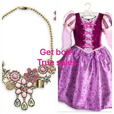 Authentic Disney Store Princess Repunzel  Costume & Jewelry Youth Size 13 New