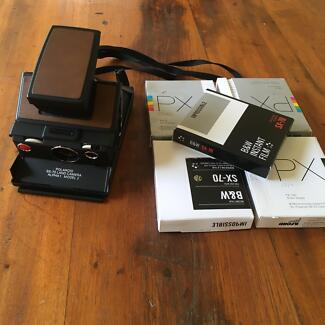 Polaroid SX-70 Land Camera with 5 packs of Impossible Film (B&W)