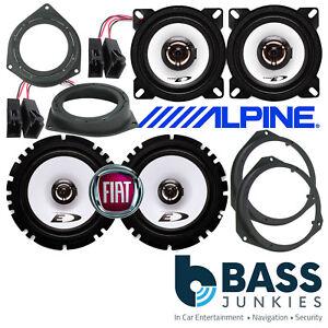 Fiat Grande Punto / EVO ALPINE 800 Watt 2 Way Front & Rear Door Car Speakers Kit